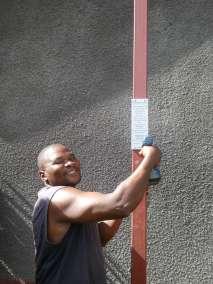 Pastor Ndlovu Attaches Plaque
