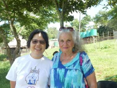 Pastor Carol With Volunteer Worker From Taiwan, China