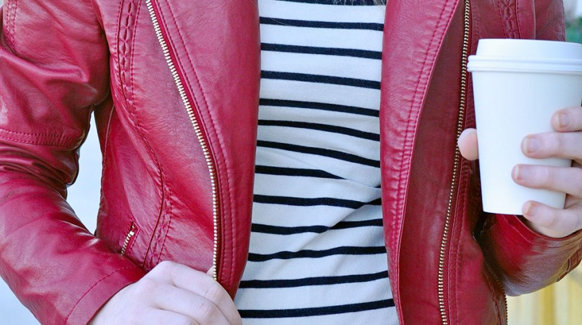 How To Style A Red Leather Jacket