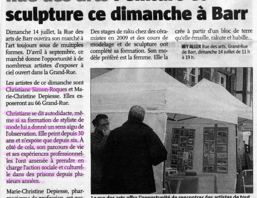 Article « L'Alsace »