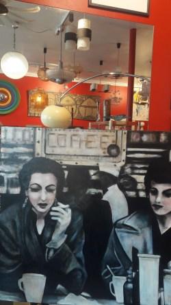Des toiles exposées chez «Les Trésors du Quai».