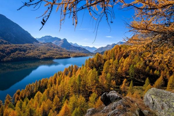 Wunderbare Herbststimmung im Engadin