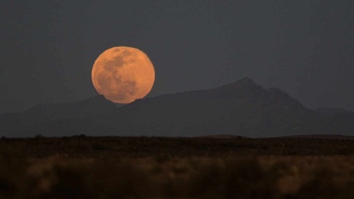 Moonrise - Desert near Asrir