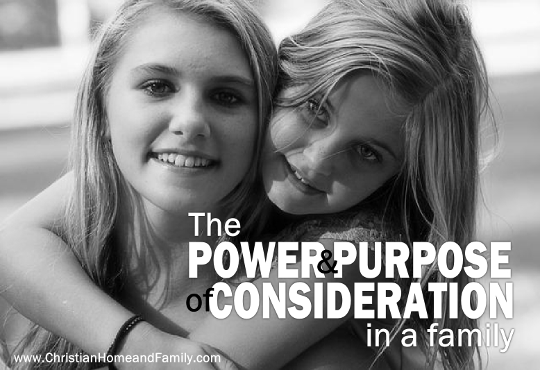 power and purpose of consideration