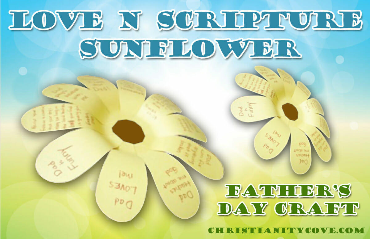Love N Scripture Sunflower Father S Day Craft