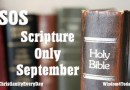 Challenge: Scripture Only September (SOS)