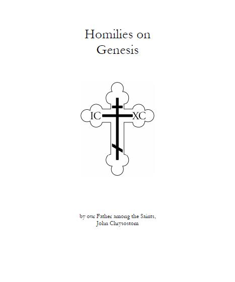 homilies on genesis