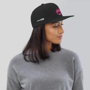 Blasphemus Emoji Hat with Christian Podcast Logo
