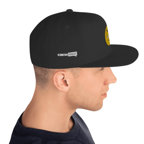 What the Hell Emoji Hat Christian Podcast Logo on Side