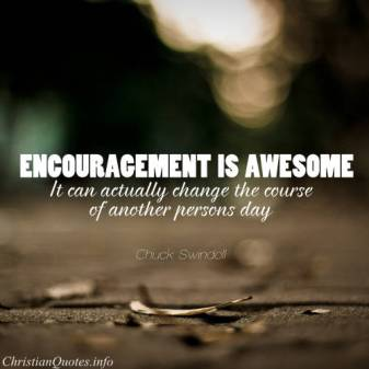 Connection is encouragement