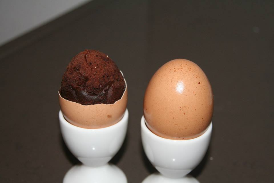Egg Brownie Surprise