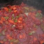 Gnocchi - groenten in tomatensaus