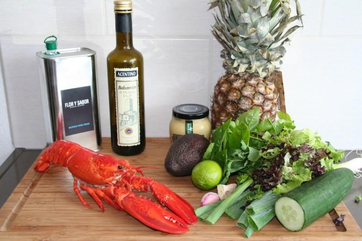 Kreeft ananas salade - Ingredienten