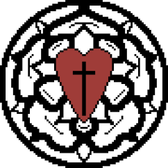 pixel art Lutheran Emblem