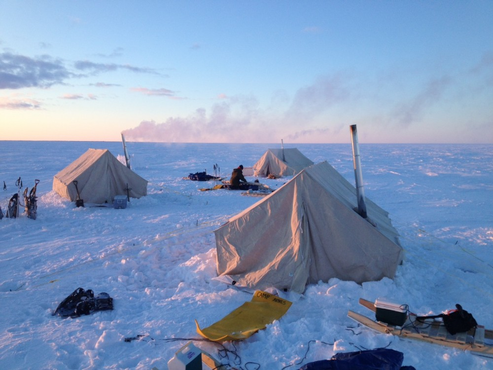 Camp Anvil, the Forge group's first camp during their trek. Photo courtesy Brynn Shore.