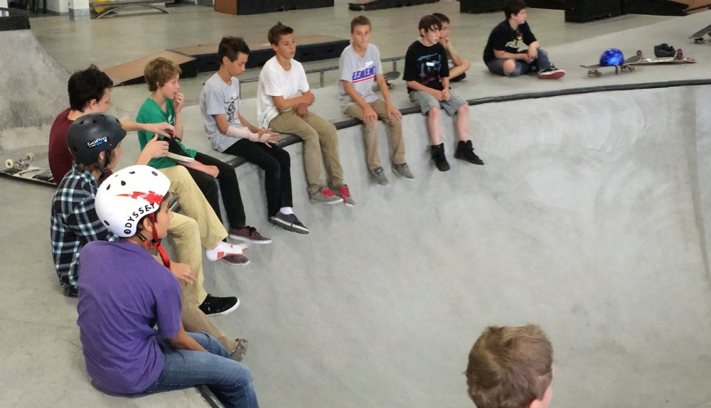 Participants leave with new ideas to inspire and reach the youth they serve. Photo courtesy The Edge Skatepark.