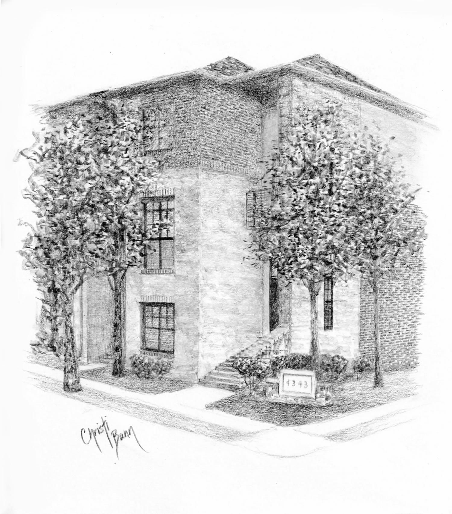 East Lake Apartments Birmingham Al: Commissioned Architectural Portrait