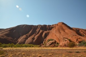 Uluru in the bright sunshine
