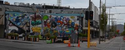 Christchurch street art and sheep