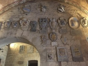 Volterra Tuscany ancient municipal building interior