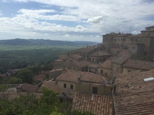 Volterra Tuscany view from the town over hills