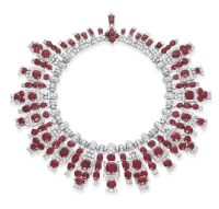 A MAGNIFICENT ART DECO RUBY AND DIAMOND NECKLACE, BY