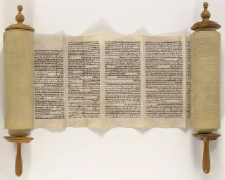 TORAH SCROLL for use in the synagogue Probably Italy