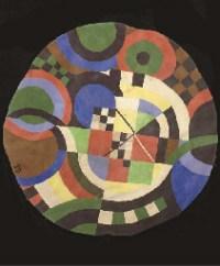 'TONDO', D'APRES UN DESSIN DE SONIA DELAUNAY (1885-1979 ...