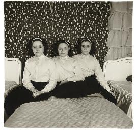 DIANE ARBUS 19231971  Triplets in their bedroom NJ 1963  Christies