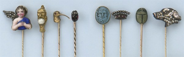 A COLLECTION OF EIGHT ANTIQUE TIE PINS Christie39s