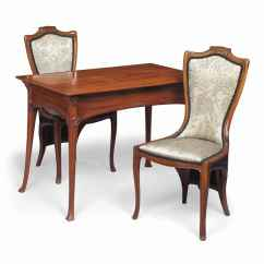 Upright Recliner Chairs Leigh Upholstered Slipper Chair An Edouard Colonna 1862 1948 Mahogany Writing Table And
