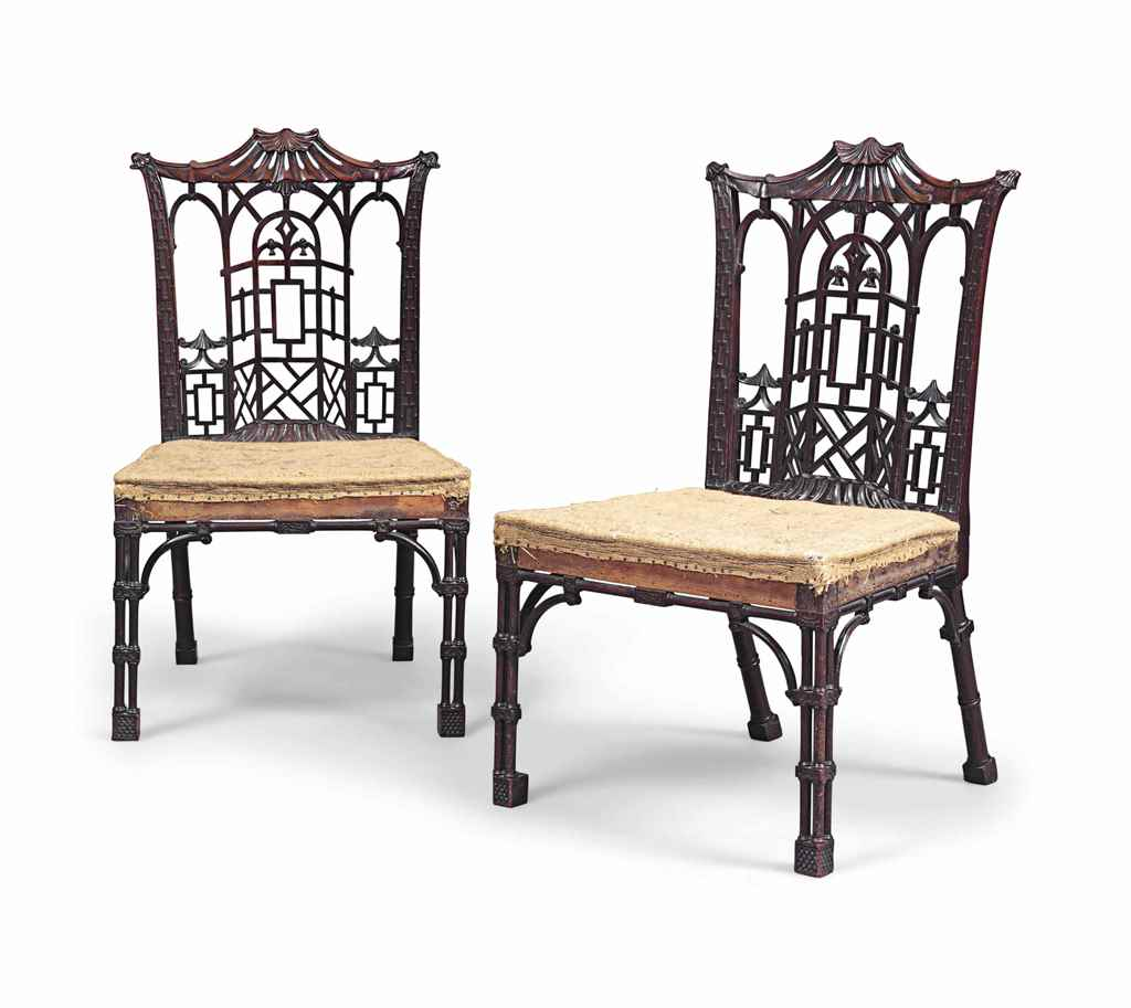 chinese chippendale chairs banquet canada a pair of early george iii 39chinese 39 mahogany
