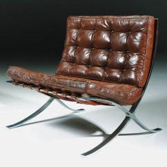 Barcelona Chair Leather Covers For Wingback Chairs A Chromed Steel And Model Mr 90