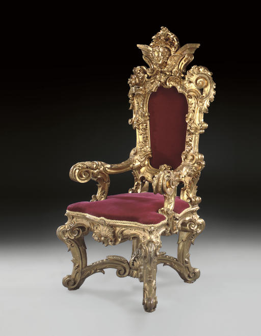 kings chair for sale office kenya an italian giltwood throne by giovanni berardi late 19th