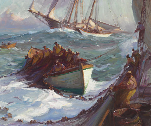 Emile Albert Gruppe 1896 1978 Out Of Gloucester