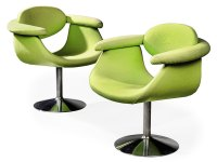 A PAIR OF EERO AARNIO CAPTAIN'S CHAIRS , DESIGNED 1966 ...