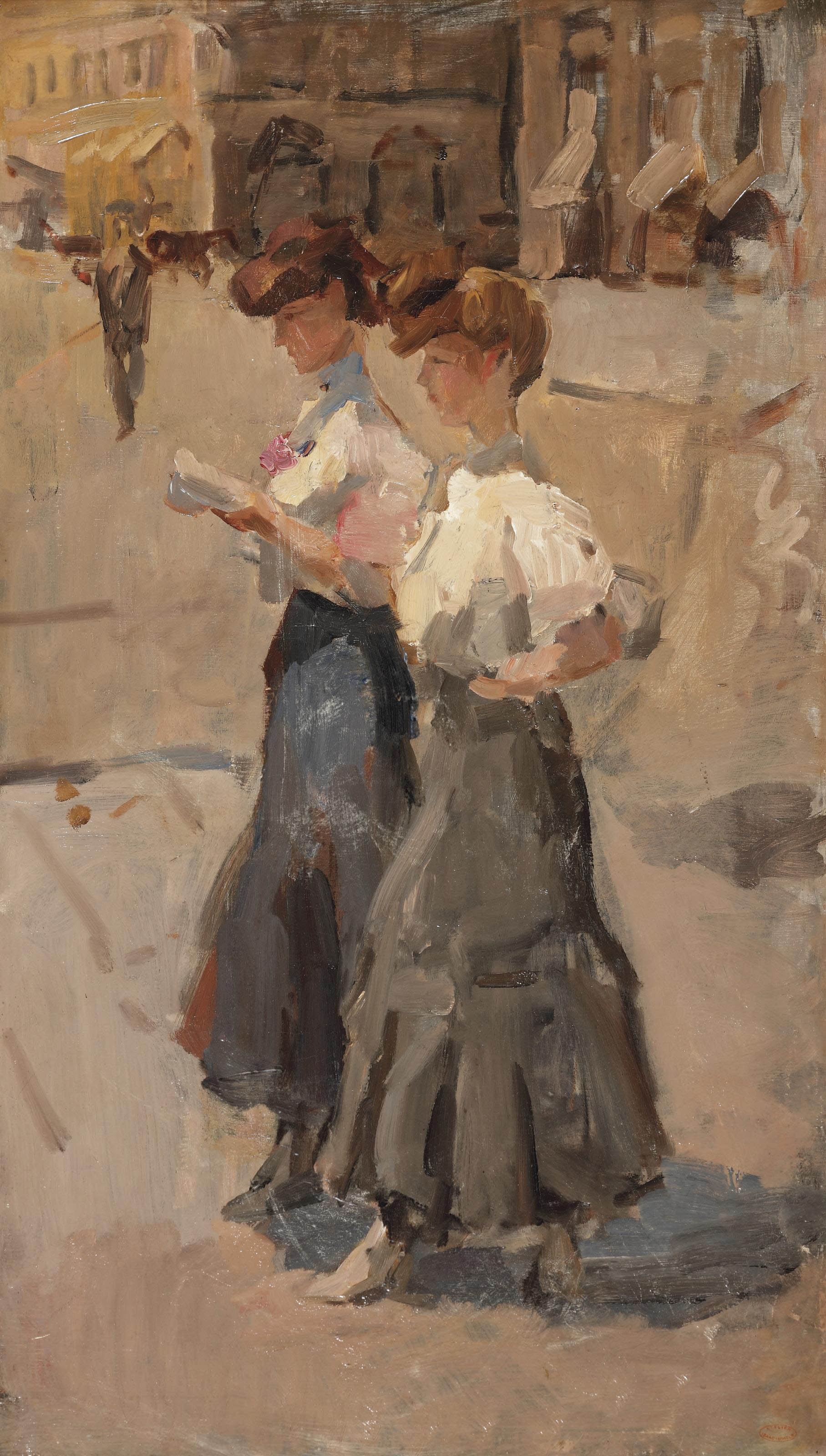 Isaac Israels 1865 1934 Two Modinettes On The Place