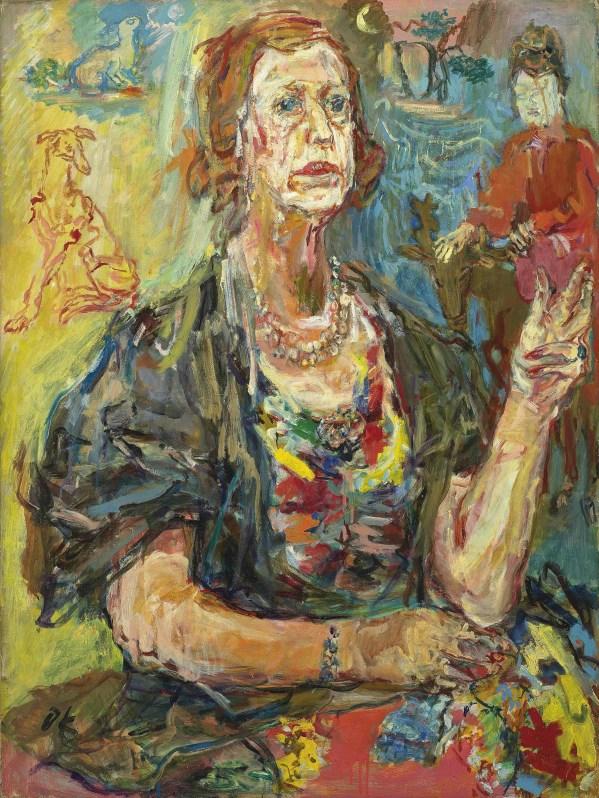 Oskar Kokoschka 1886-1980 Kathleen Countess Of Drogheda Christie'