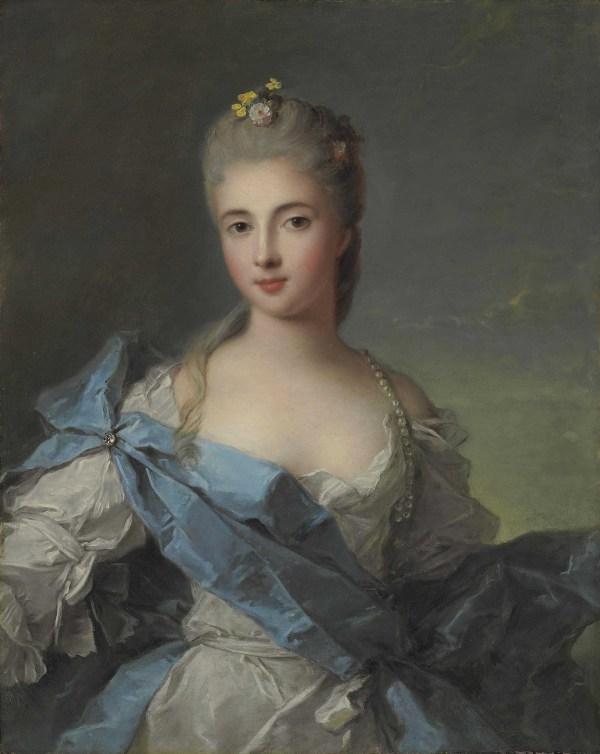 Jean-marc Nattier Paris 1685-1766 Portrait Of Lady