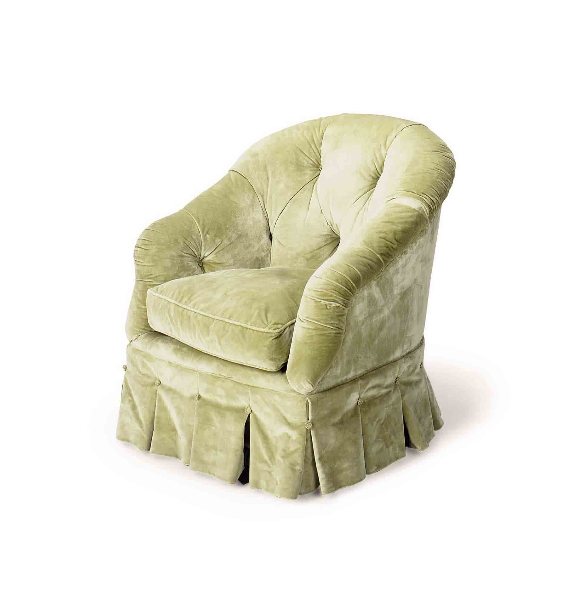 green velvet tufted chair loose covers for weddings a button sea upholstered club