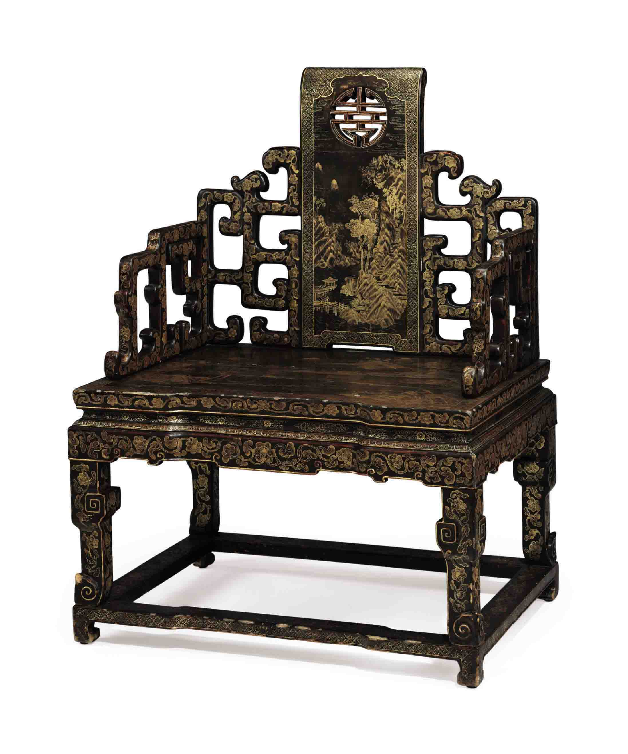 black throne chair office mat for high pile carpet a rare gilt decorated lacquered softwood