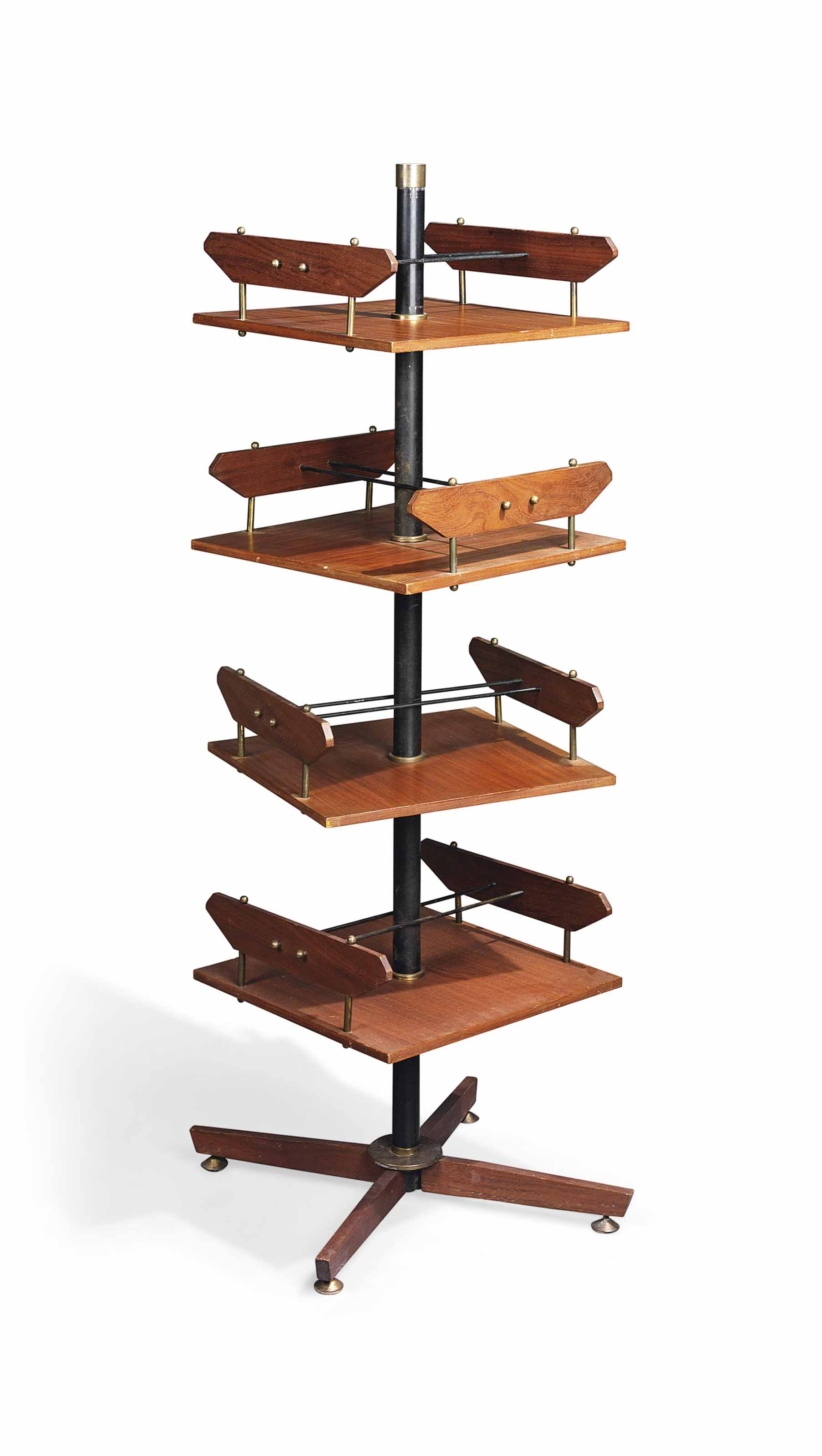 teak wood revolving chair kore wobble an ico parisi walnut and metal bookcase