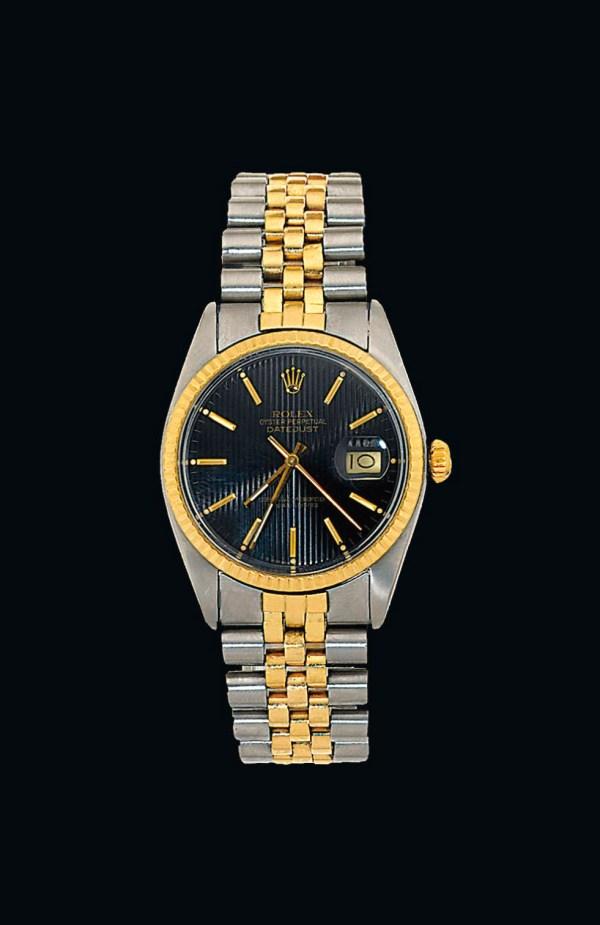 Bi-colour Oyster Perpetual Datejust Wristwatch Rolex