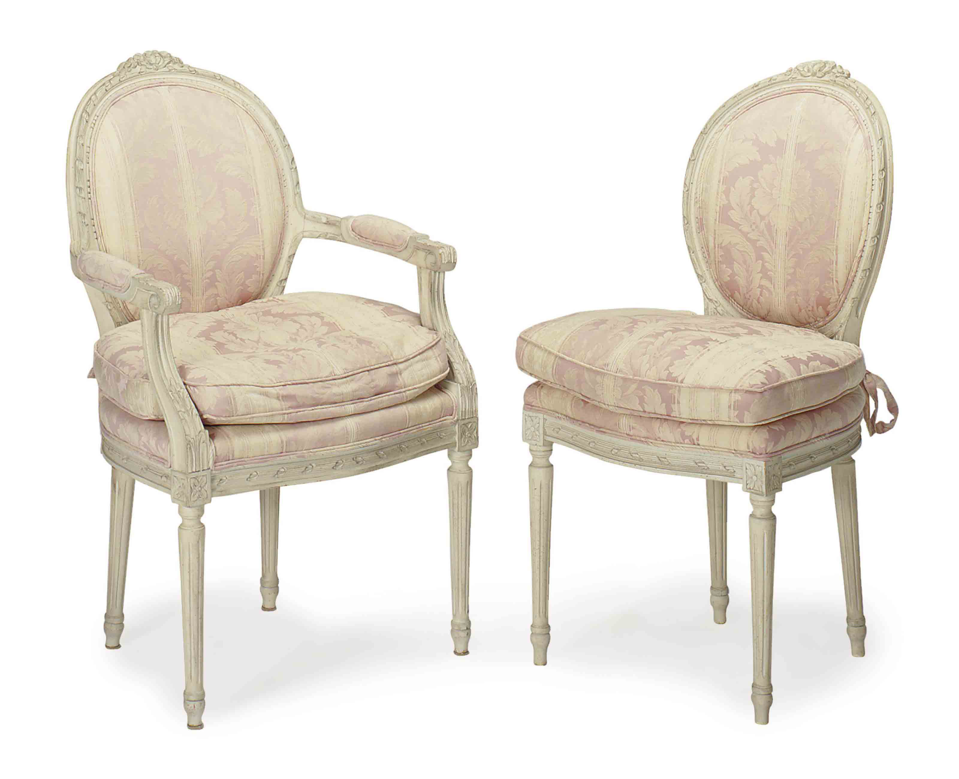 french white dining chairs office chair protection for hardwood floors a set of eight painted late