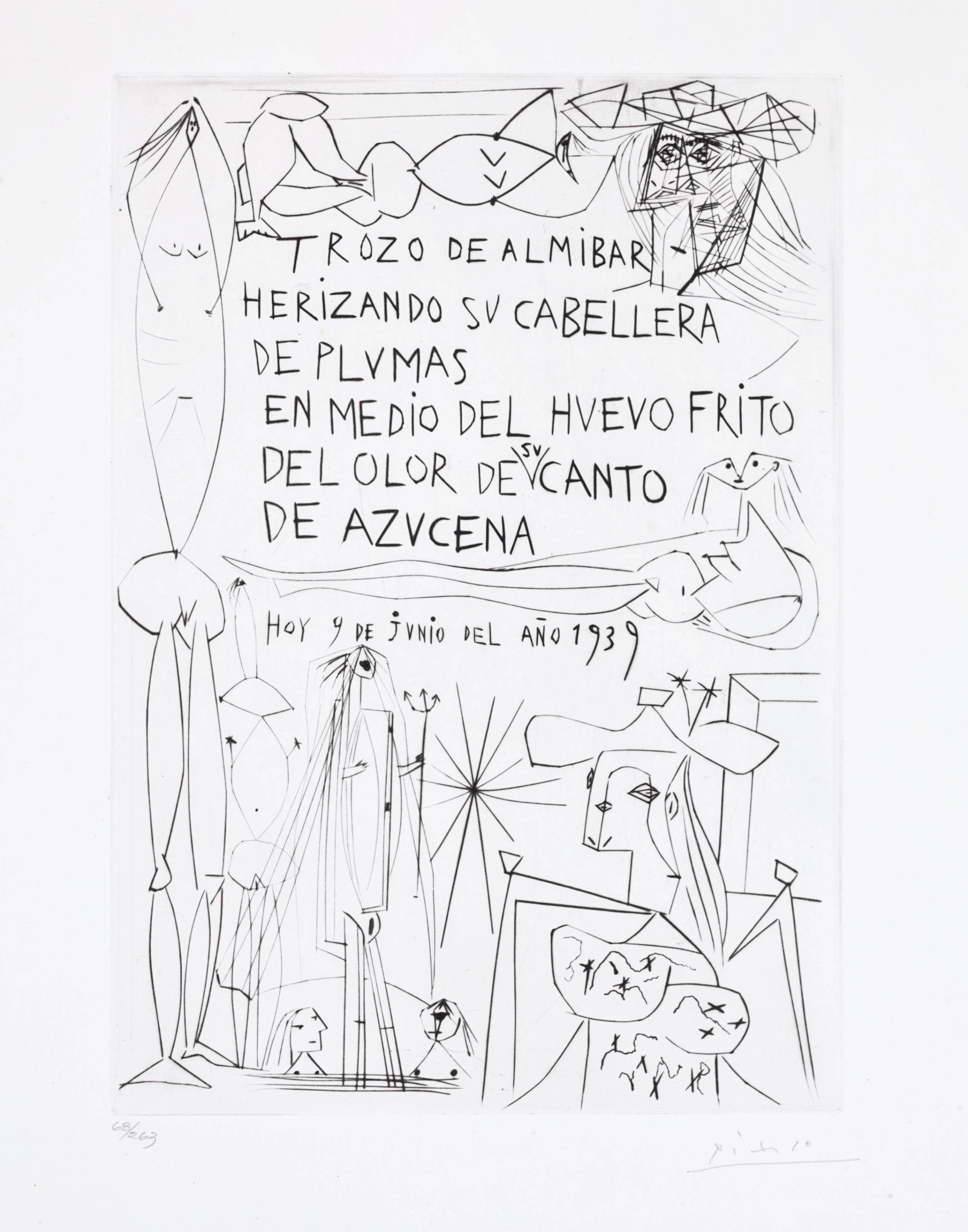 PABLO PICASSO , Rafael Alberti, El Entierro del conde de
