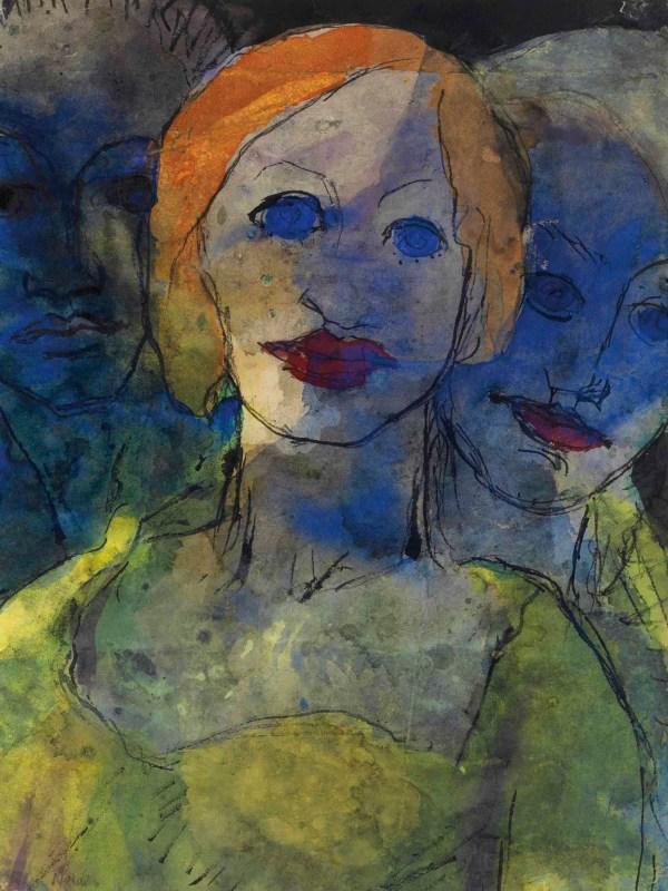 Emil Nolde 1867-1956 Phantasie Drei Pfe Christie'