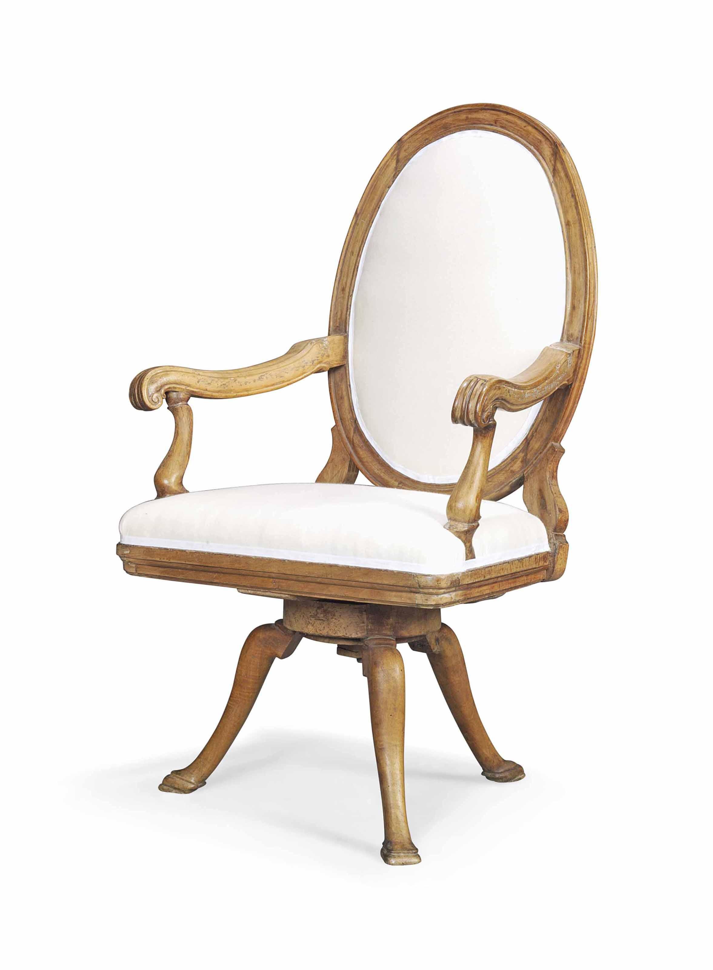 revolving chair rate king san antonio a north italian walnut library late 18th
