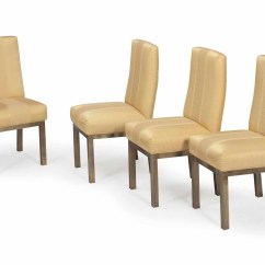 Yellow Upholstered Dining Room Chairs Mesh Gaming Chair Pm3000 A Set Of Four Brass And Silk