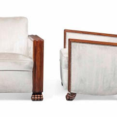 Art Deco Style Club Chairs Retro Metal Garden A Pair Of Oak Armchairs Mid 20th Century