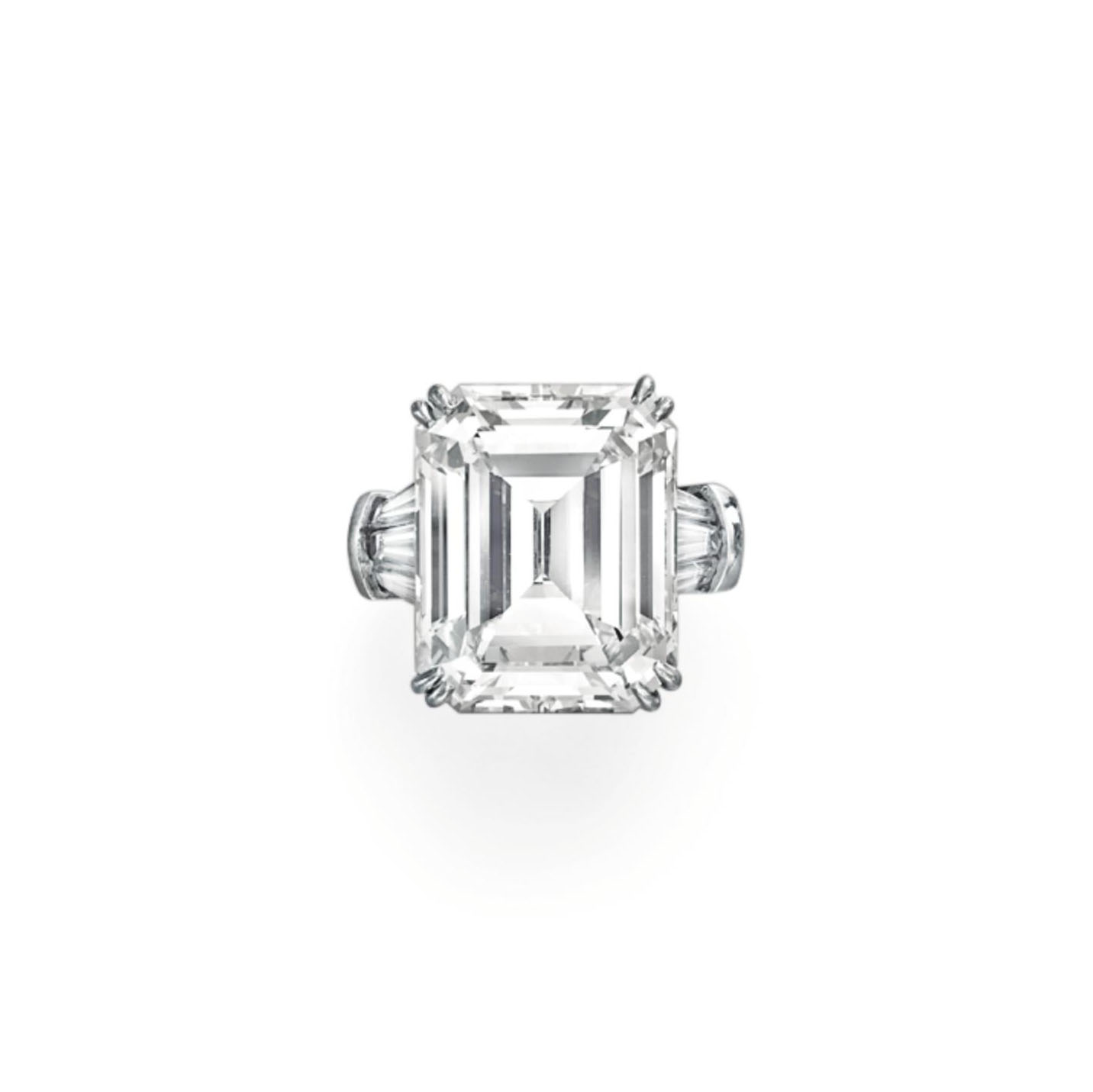 AN IMPORTANT DIAMOND RING, MOUNTED BY HARRY WINSTON
